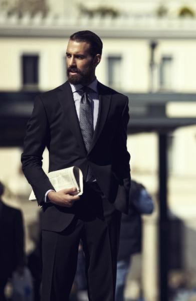 Rock the beard in style #professional #business #fashion #slick-back #hair