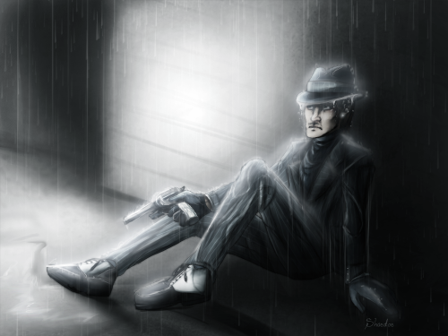 I have no art inspiration last couple of days. And I wanted to practice rain and   Dior bby. Ily. |: I should draw you more. baby why you all wet. I think you're about to shoot off your foot. That's not how you hold a gun. /time to work on those requests/