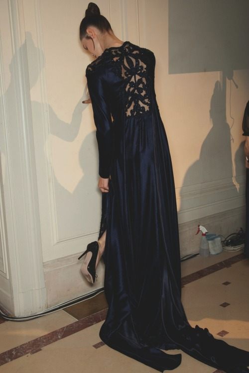 the-front-row:  backstage at valentino couture fall/winter 2012