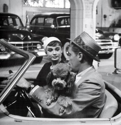 Audrey Hepburn and William Holden in Sabrina (1954).