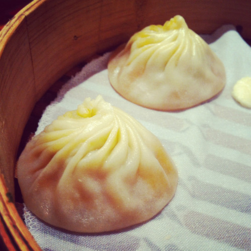 Hongkong food: steamed bun stuffed with minced pork
