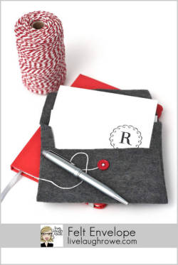 prettylittlepieces:  Make a Felt Envelope