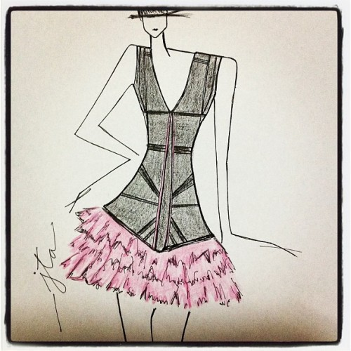 juliustaguirre:  Leather & Lace - j.T.a #fashion #fashiondesign #fashionillustration #powerinstyle #style #art #sketches #instagood (Taken with Instagram)  Just like the high end labels!