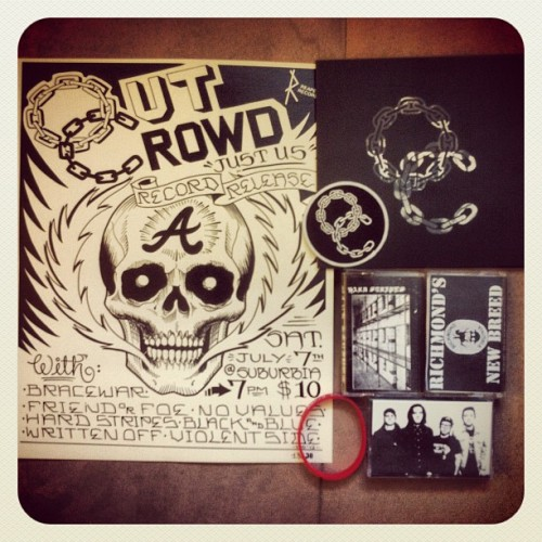 fiveyeardiary:  Rad stuff I picked up at the #OutCrowd release show last night. (Taken with Instagram)  What a great haul. I really wish I could have made it out.