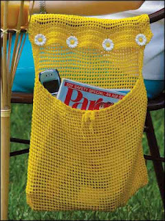 bag to hold magazines, books etc when you are outside in your lawn chair or beach chair