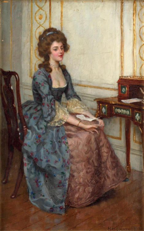 Charles Haigh-Wood (1856-1927) - Elegant lady daydreaming