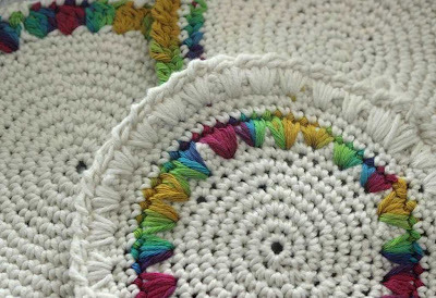 vintage crocheted potholders