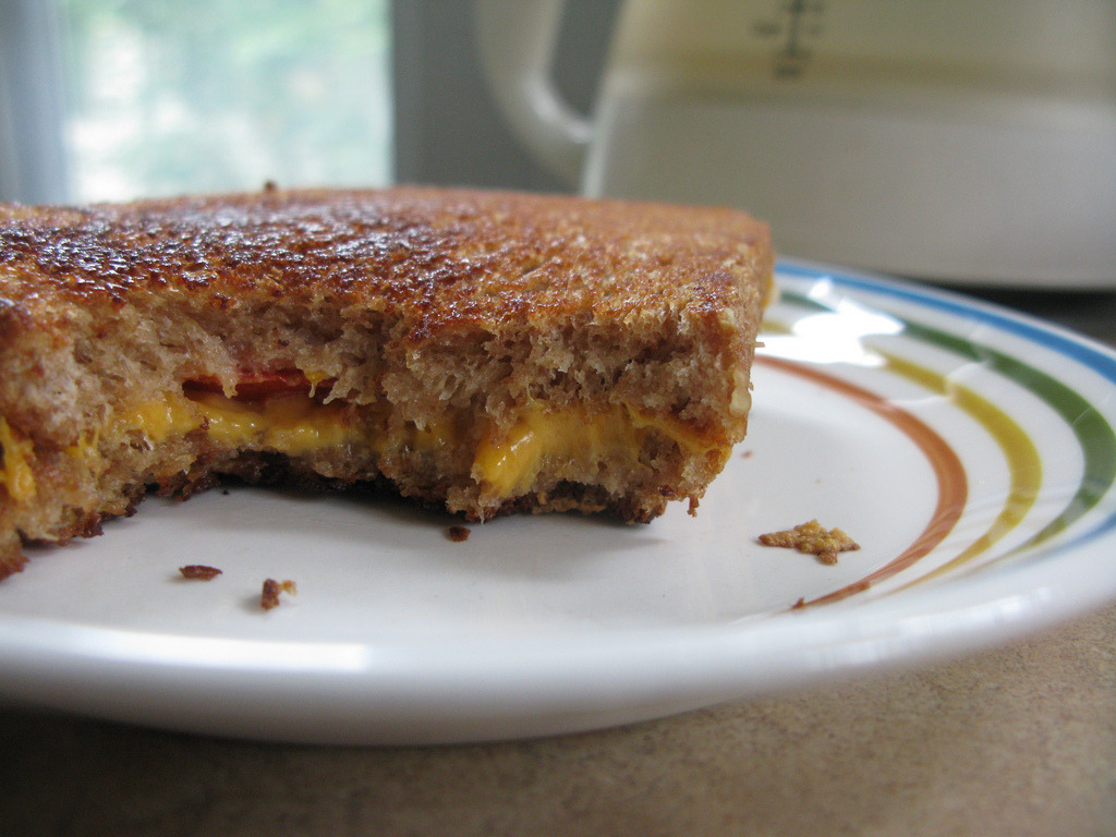 Vegan grilled cheese sandwich