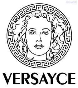 davef85:  Today's accomplishment is the Versayce logo. I took the original Versace logo, removed the Medusa face and replaced it with Elizabeth Berkley's face, then changed the spelling. Enjoy!