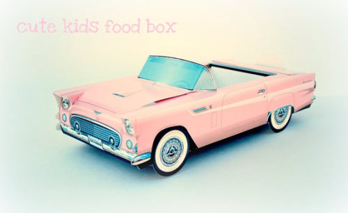 Pink vintage car favour box!