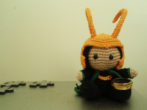 "Pocket Loki ""borrowed"" a little trinket from his old pal Sauron."