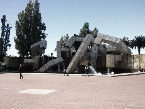 The Vaillancourt Fountain in San Francisco