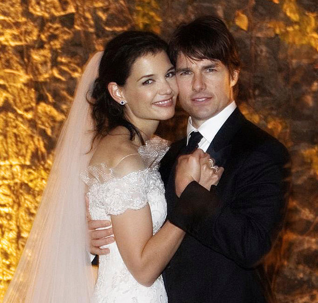 Tom Cruise and Katie Holmes in 2006.