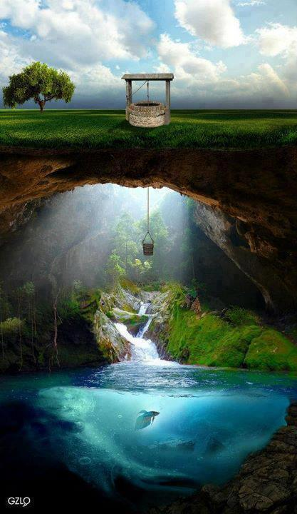 celticspiritworks:  The wellspring of life, the reservoir of our spirit, refreshing, delighting and purifying. Photo/art by Erkan Torun
