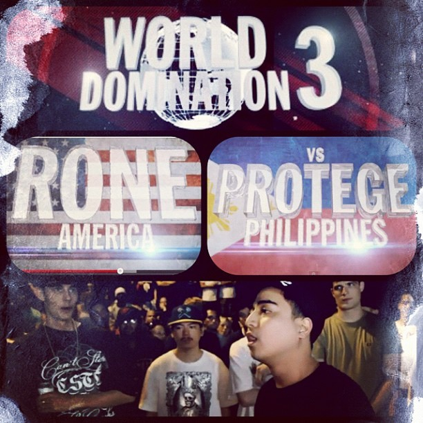 Yeaahhh @jonprotege representing the #FlipTop #Philippines.  KOTD Presents - World Domination 3 - Global Supremacy August 10th, 11th & 12. King Of The Dot Brings The Rap World Together To Battle For Global Supremacy. 50 Battlers from 7 different countries converge in Toronto for the year's premiere international battle rap event. http://www.youtube.com/watch?v=eNlVnV5v7e8 #kingofthedot #kotd #wd3 #protege #rapbattle #hiphop #battle #instadaily #iggersmanila #instagood  (Taken with Instagram)