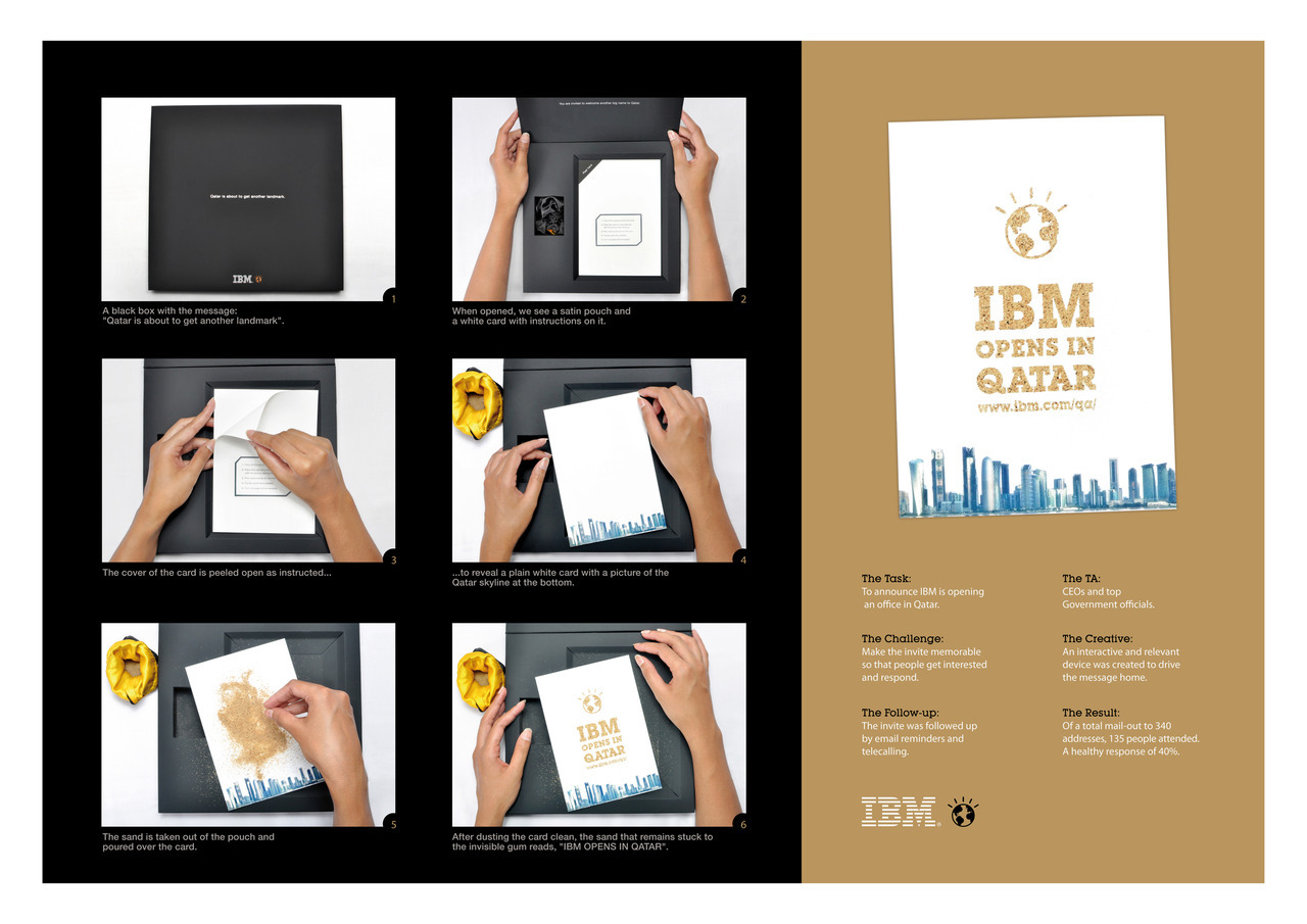 Invitation to IBM opening in Qatar.