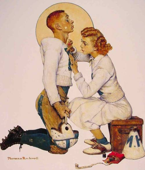 Football Hero by Norman Rockwell (1894-1978)