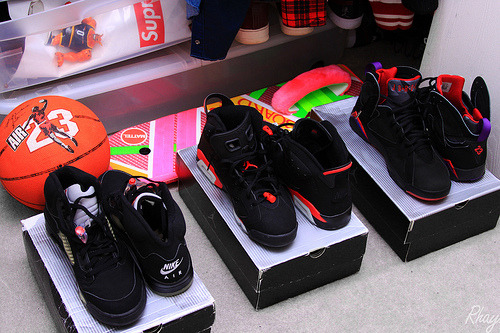 Rotation;2000 Black Metallic V's2000 Infrared VI's2002 Raptor VII's -Rhay.
