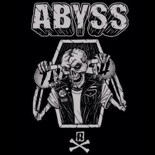 #abyss_crew skate and destroy. #skateboard #skating #thrasher #thrash #destroy #skull #coffin #skeleton #bones #vest #patch #nyc #boston #shred #gnar  #2012 #tattoo  (Taken with Instagram)