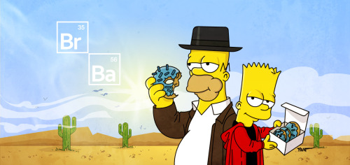 breakingbadamc:  The Simpsons x Breaking Bad!