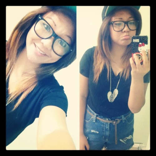 #ootd #me #highwaisted #snapback #asian #vietnamese #imsleepy #obey (Taken with Instagram)