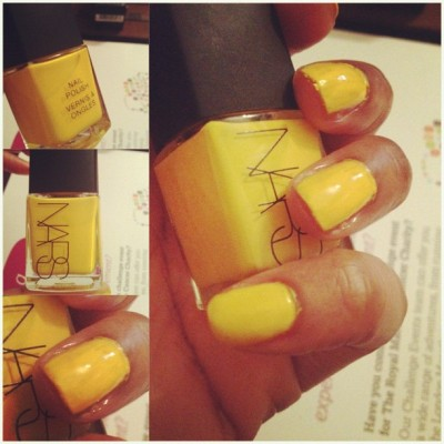 Finally got my NARS THAKOON 'Amchoor' (#Yellow) 😝💛👯💅😝   Princess xox