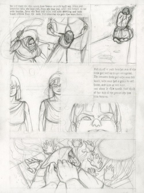 Hansel and Gretel, page 7, pencils, Pierce Hargan (2011)