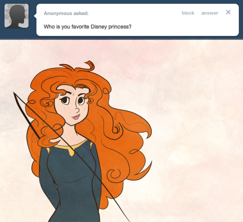 Merida! So pretty and strong and… ginger!