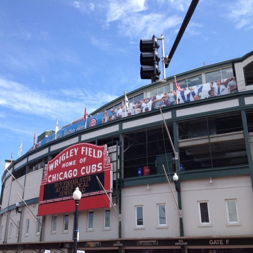 Wrigley Field.  (Taken with Instagram at Wrigley Field)