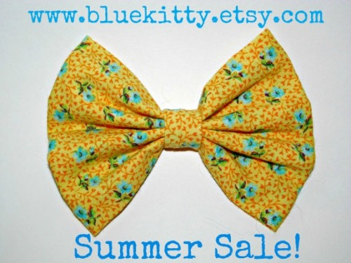 Hey guys! We are having a HUGE summer sale in our etsy shop! No need for a coupon code, the prices have already been lowered! Save up to 40%! www.bluekitty.etsy.com : )