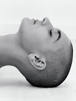 Sinead O'Connor shot by photographer Herb Ritts.