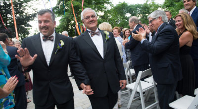 gaywrites:  Rep. Barney Frank married his partner Jim Ready in Massachusetts yesterday, making Frank both the first sitting member of Congress to be openly gay and the first to be married to a same-sex spouse. Congrats! More.