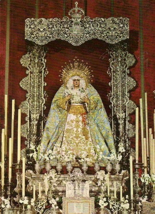 allaboutmary:  The altar of the Virgin of Hope of Macarena in Seville, 1964.