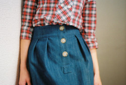 alison skirt in denim by wikstenmade on Flickr.
