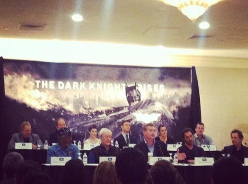 And here is the TDKR press conference
