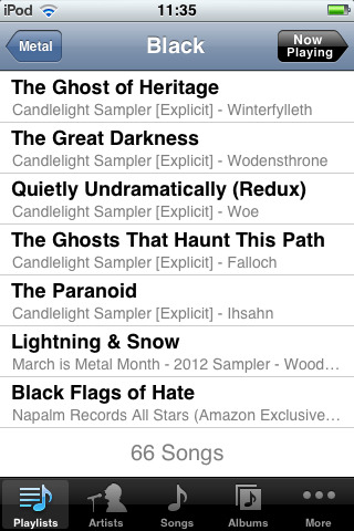 I'm not into black metal too much, but I have a few songs from samplers and stuff…