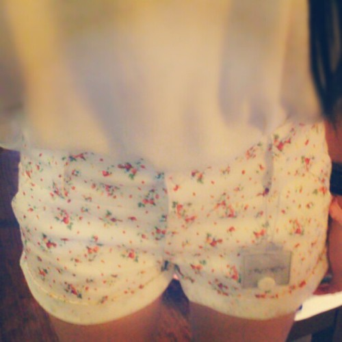 The shorts belongs to my mum, believe it or not!  (Taken with Instagram)