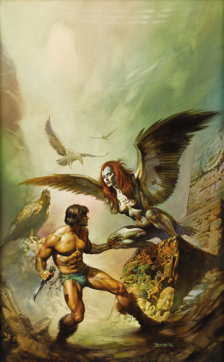 fuckyeahsciencefiction:  Boris VallejoThe Maker of the Universes, Philip Jose Farmer, Ace Books, 1977, original paperback cover illustration