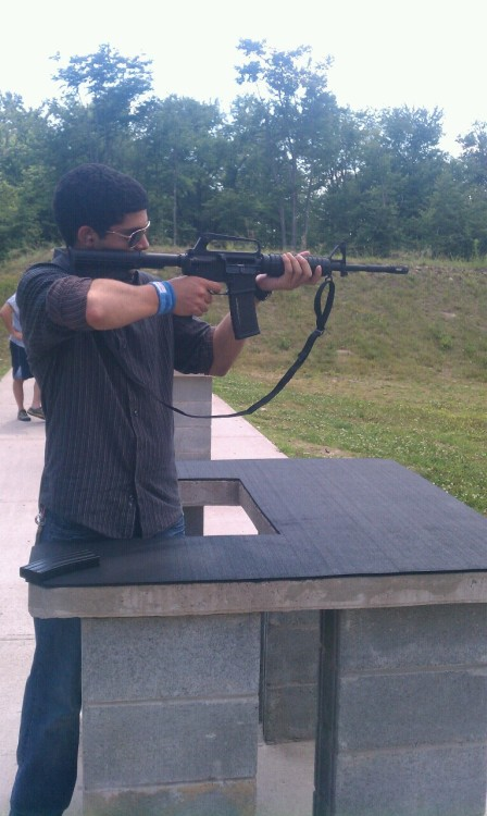 My cousin broke out the AR15. What a monster that thing is.