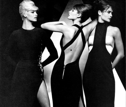 Linda Evangelista, Christy Turlington, Helena Christensen for Versace. photography by Herb Ritts