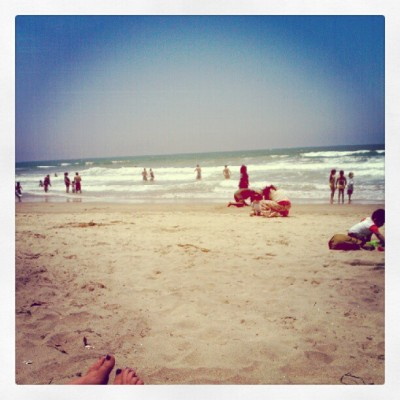 Spending our last free hours at the beach ( : (Taken with Instagram at Playa Hermosa)