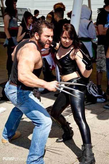 Wolverine & X-23 London Comic Con MCM Expo 2012
