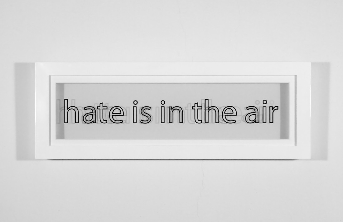 nicoonmars:  Mario David Fischer Hate Is in the Air, 2010