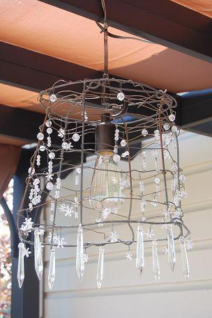 A tomato cage chandelier! YES PLEASE!!!