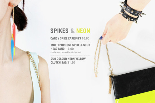 Spikes & Neon Things at www.soeurs.co