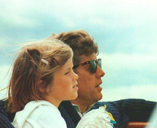 jetsetprepster:  Caroline and John Kennedy