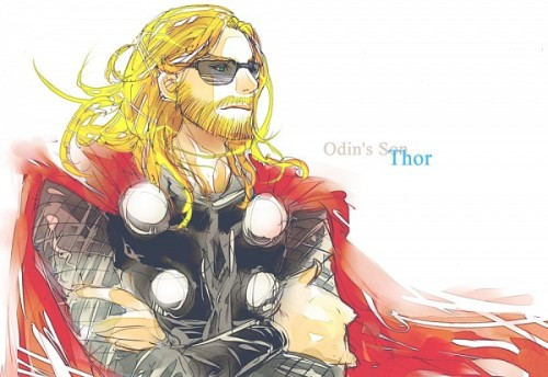 "Thor: I enjoy these shields that slaughter ultra-violet light! What did you say I had again? Snag?Steve: That's ""Swag"", Thor. Now give me back my shades."
