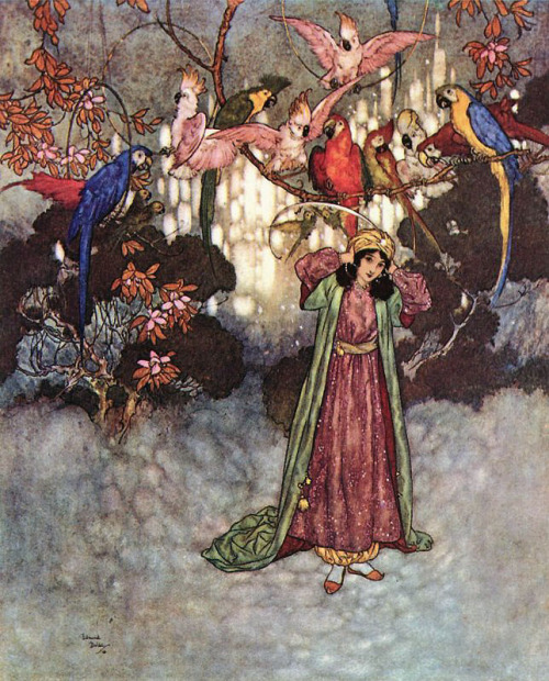fleurdulys:  Beauty and the Beast - Edmund Dulac