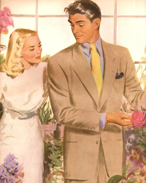 Detail, Advertisement, Hart Schaffner & Marx Menswear, 1947