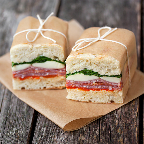 foodfuckery:  Picnic Perfect. Pressed Italian Sandwiches Recipe